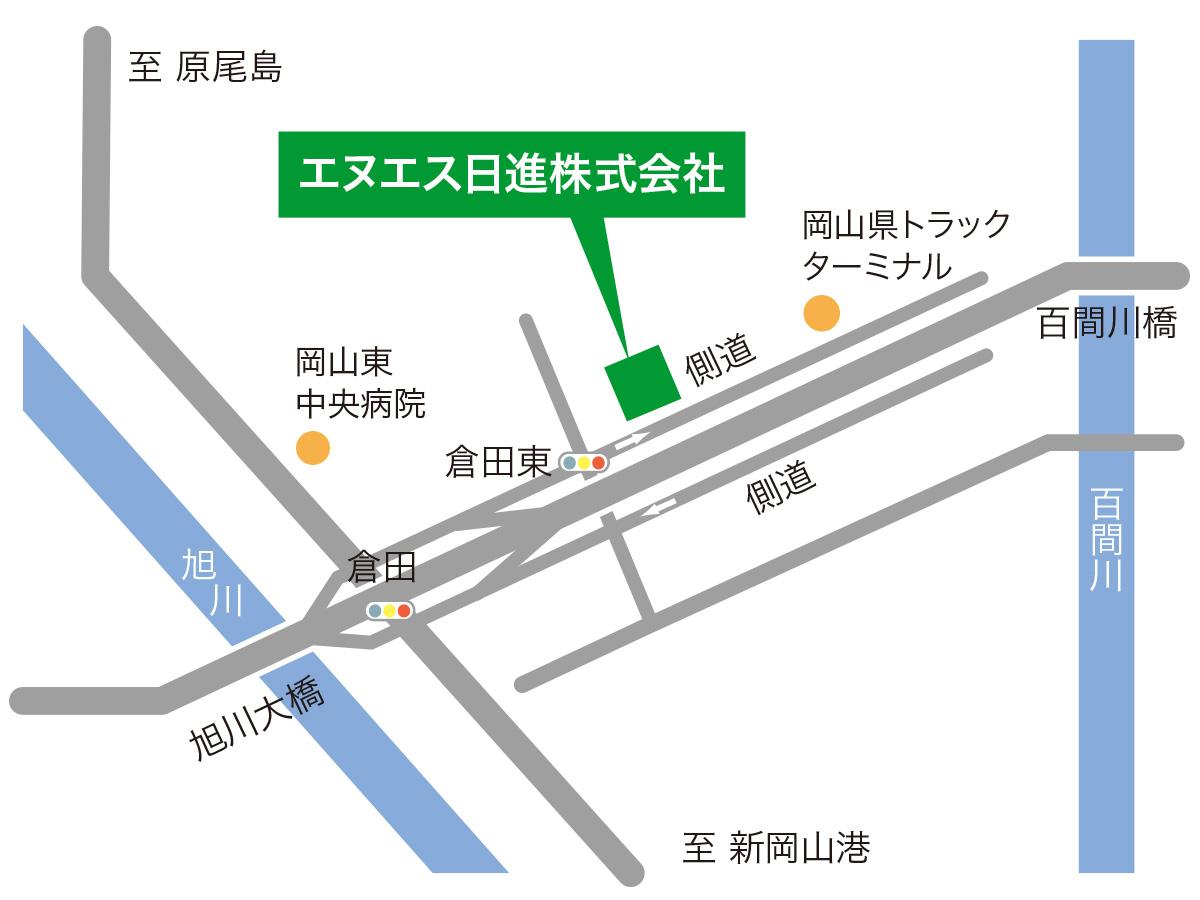本社周辺地図